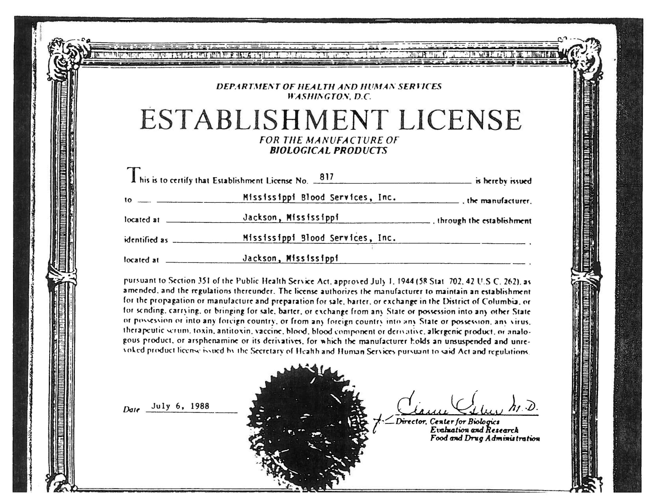 MBS-FDA-License